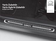 Preisliste Yaris / Hybrid Zubehör