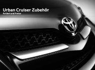Preisliste Urban Cruiser Zubehör