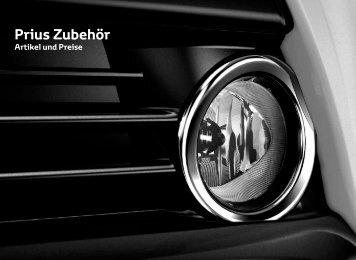 Preisliste Prius Zubehör