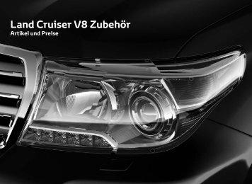 Preisliste Land Cruiser V8 Zubehör