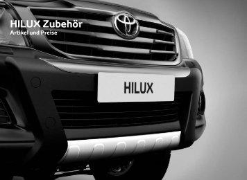 Preisliste HILUX Zubehör