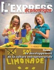 Le développement de la culture entrepreneuriale - Chambre de ...