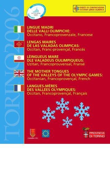 LINGUE MADRI DELLE VALLI OLIMPICHE - Provincia di Torino