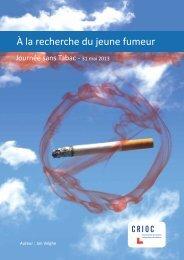 À la recherche du jeune fumeur - Journée sans tabac - Crioc