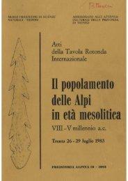 Atti della Tavola Rotonda Internazionale VIII -V millennio ac - Museo ...