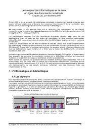 Ressources informatiques et mise en ligne des documents numérisés