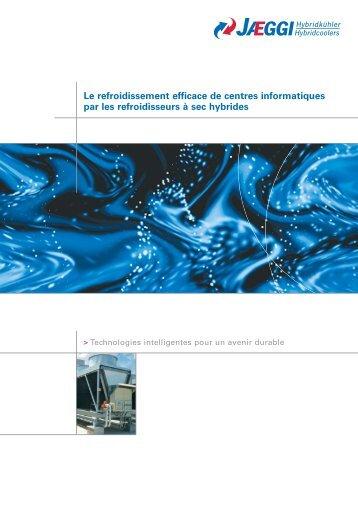 Le refroidissement efficace de centres informatiques par les ...
