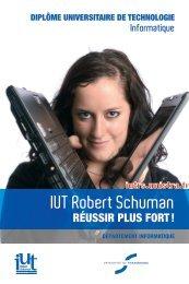DUT Informatique - IUT Robert Schuman - Université de Strasbourg