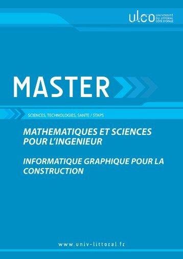 Master INFORMATIQUE GRAPHIQUE POUR LA CONSTRUCTION