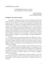 La sémiotique est-elle un art - Université de Limoges