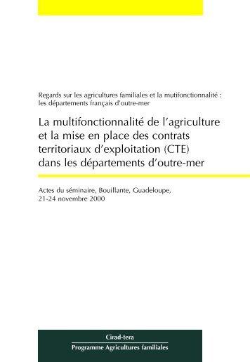 CTE - Multifonctionnalité de l'agriculture et des espaces ruraux - Cirad