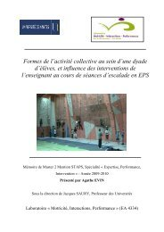 2010-M2-Agathe-Evin - Actions, significations et apprentissages en ...