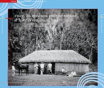 Fare, la maison polynésienne, d'hier à aujourd'hui