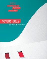 Revue 2012 avec rapport de gestion 2011 (PDF, 3.95 MB ) - Sanu