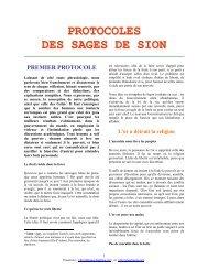 Protocoles des Sages de Sion - Moisson des Élus