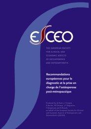 Recommandations européennes pour le diagnostic et la prise en ...