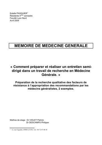 mémoire E. Pasquier - college de medecine generale de nice (cage)