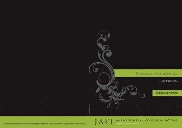 Untitled - Javna agencija za knjigo Republike Slovenije