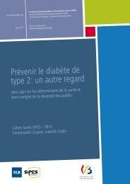 Prévenir le diabète de type 2: un autre regard - Direction générale ...