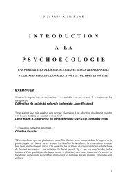 Education et psychoecologie par Jean Pierre Alain Faye - EXERGUES
