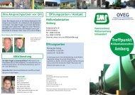 Flyer Müllumladestation Amberg...alle Informationen auf einen Blick