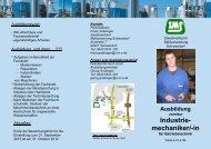 Flyer Berufsausbildung Industriemechaniker - Zweckverband ...
