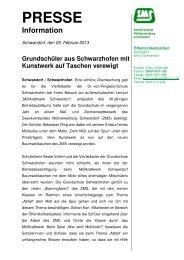 Grundschule Schwarzhofen_Kunst - Zweckverband Müllverwertung