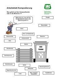 Arbeitsblatt Kompostierung