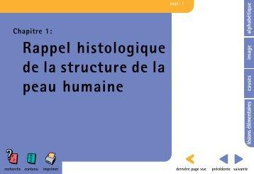 Rappel histologique de la structure de la peau humaine