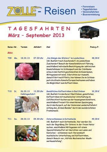 Tagesfahrten 2013 - Zölle Reisen