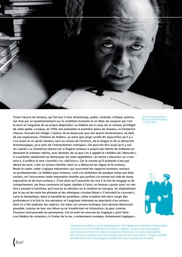 Eugène Ionesco - BnF - Bibliothèque nationale de France