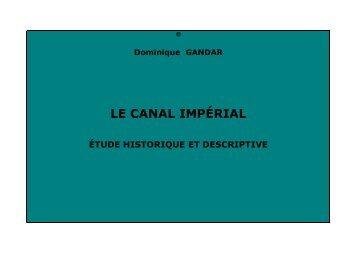 Le canal impérial, étude historique et descriptive - Chine ancienne