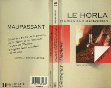 Le Horla et autres contes fantastiques - Oasisfle