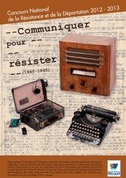 --Communiquer résister - Fondation de la France Libre