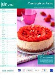 Cheese-cake aux fraises - Les Restaurants du Coeur de l'Eure