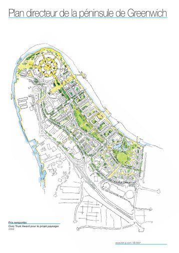 Plan directeur de la péninsule de Greenwich