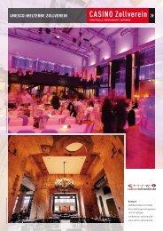 UNESCO-Welterbe Zollverein Convention Factsheet CASINO ...