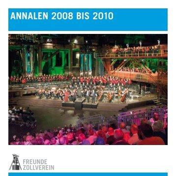 ANNALEN 2008 BIS 2010 - Zeche Zollverein