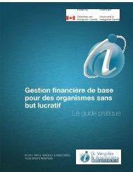 Gestion financière de base pour des organismes sans but lucratif