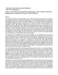 Document fourni par la société Bibliopolis http://www.bibliopolis.fr ...
