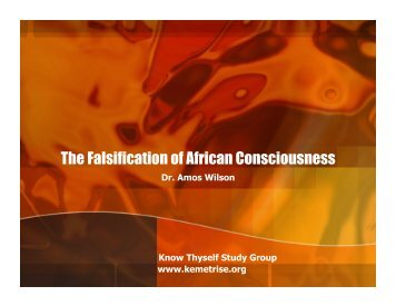 The Falsification of African Consciousness - Kemetrise.org
