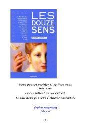 Les douze sens - Un autre regard