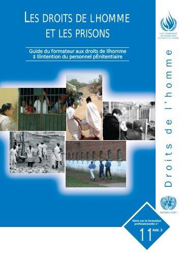 Guide du formateur aux droits de l'homme
