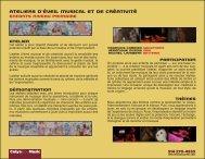 Ateliers d'éveil musical et de créativité - Francois Carrier