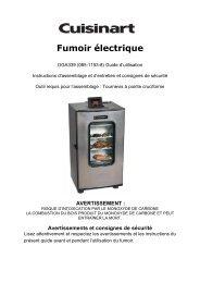 Fumoir électrique - Cuisinart BBQs
