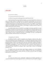 campagnes de fouilles de 2005 a 2011 - Ecole biblique et ...