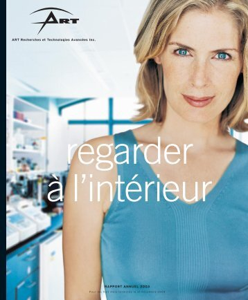Rapport Annuel 2003 - ART Advanced Research Technologies Inc.