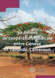 Le stage des étudiants genevois au Cameroun - Faculté de ...