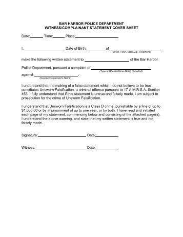 Witness Statement Form MgT Cce Pdf Format  Devon