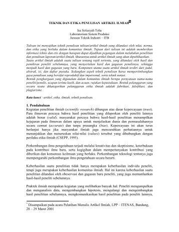 Etika Penulisan Buku Ajar Wahyu Wibowo Universitas Nasional